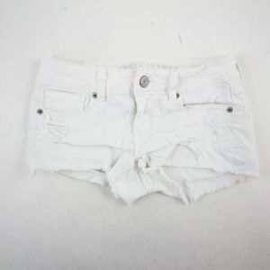 American Eagle Outfitters Mini Shorts Size 0 White